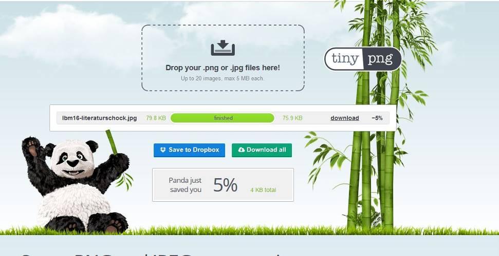 Gimp & tinypng: Bilder optimieren für dein Buchblog
