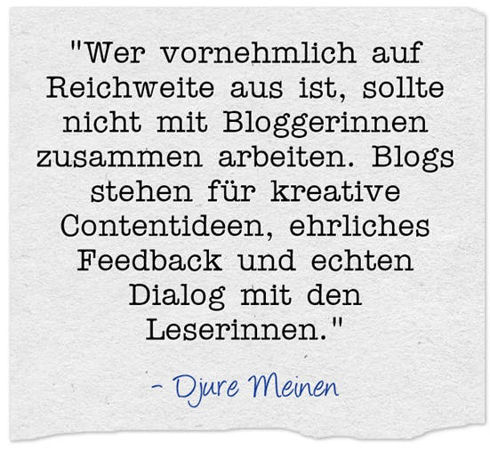 Djure Meinen. Interview zu Blogger Relations