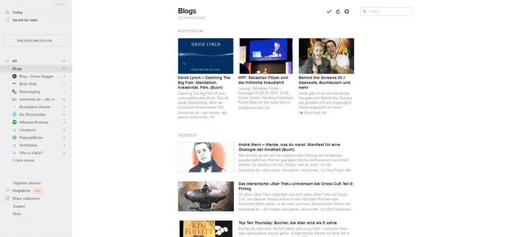 RSS mit Feedly verwalten